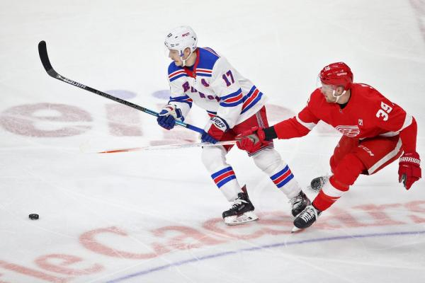 Detroit Red Wings contra los New York Rangers